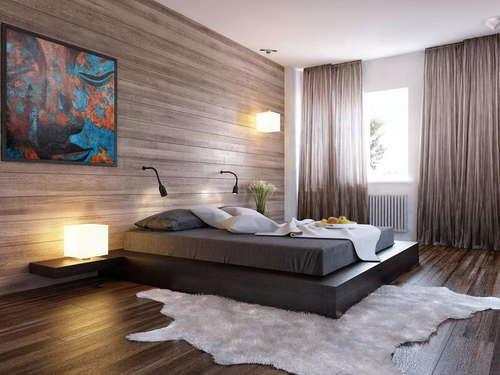Спальня кровать подиум