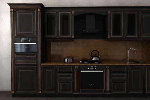 Кухня класичесская чёрная